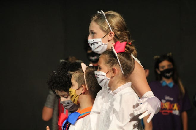 """The cast of """"The Aristocats Kids"""" at Holland Community Theatre rehearse before opening this weekend."""