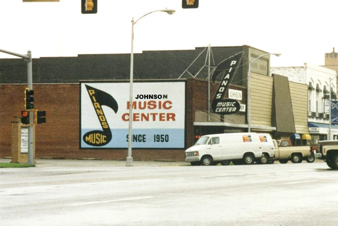 Johnson Music Center at 420 N. Main St. in 1980, owned by Craig Johnson and Mike Johnson.