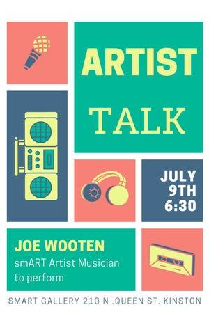 smART Gallery presents Joe Wooten July 9, 6:30pm- 7:30pm