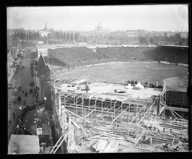 Fenway Park underwent construction in 1914. The Park has been renovated many times since then.