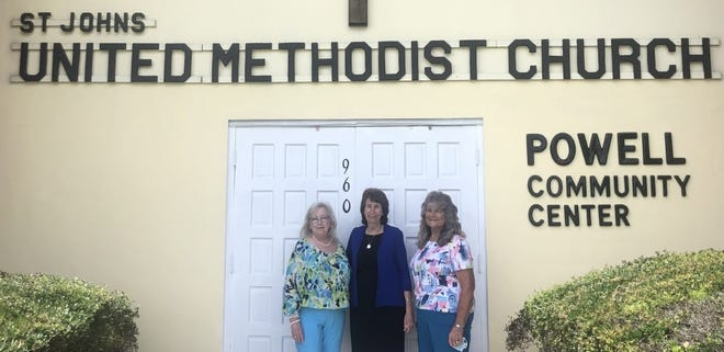 Pictured left to right are Kathy Watson, clinical director of Angels Care Center, Janey Powell, president of Angels Care Center and Project Love, and Eugenia Barton, program director of Project Love.