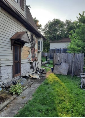 A fire of unknown origin damaged the exterior of this Westernport home Monday and is under investigation by the Maryland State Fire Marshal's Office.
