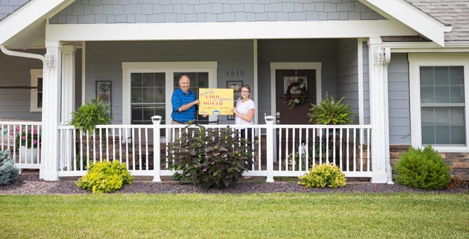 Steve and Jane Loeber's residence at 1215 Cedar Ridge Dr. received Moberly Community Betterment's July Yard of the Month award.
