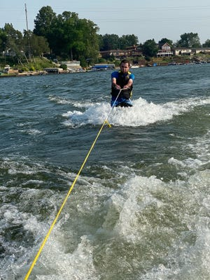 Monroe News reporter Blake Bacho went kneeboarding over the holiday weekend. It did not go well.