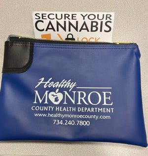 """Free locking """"Secure Your Cannabis"""" bags are now available at the Monroe County Health Department."""