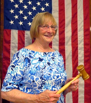 American Legion Auxiliary Unit 376 President Louise Spicer holds the symbolic gavel following her recent installation.