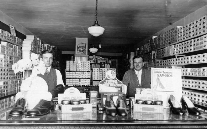 The Mayer Store, a target of a 1921 burglary, is pictured.