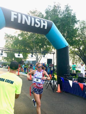 Recent Petoskey graduate Emma Squires earned a victory in the 5k race of the Paul Revere Run.
