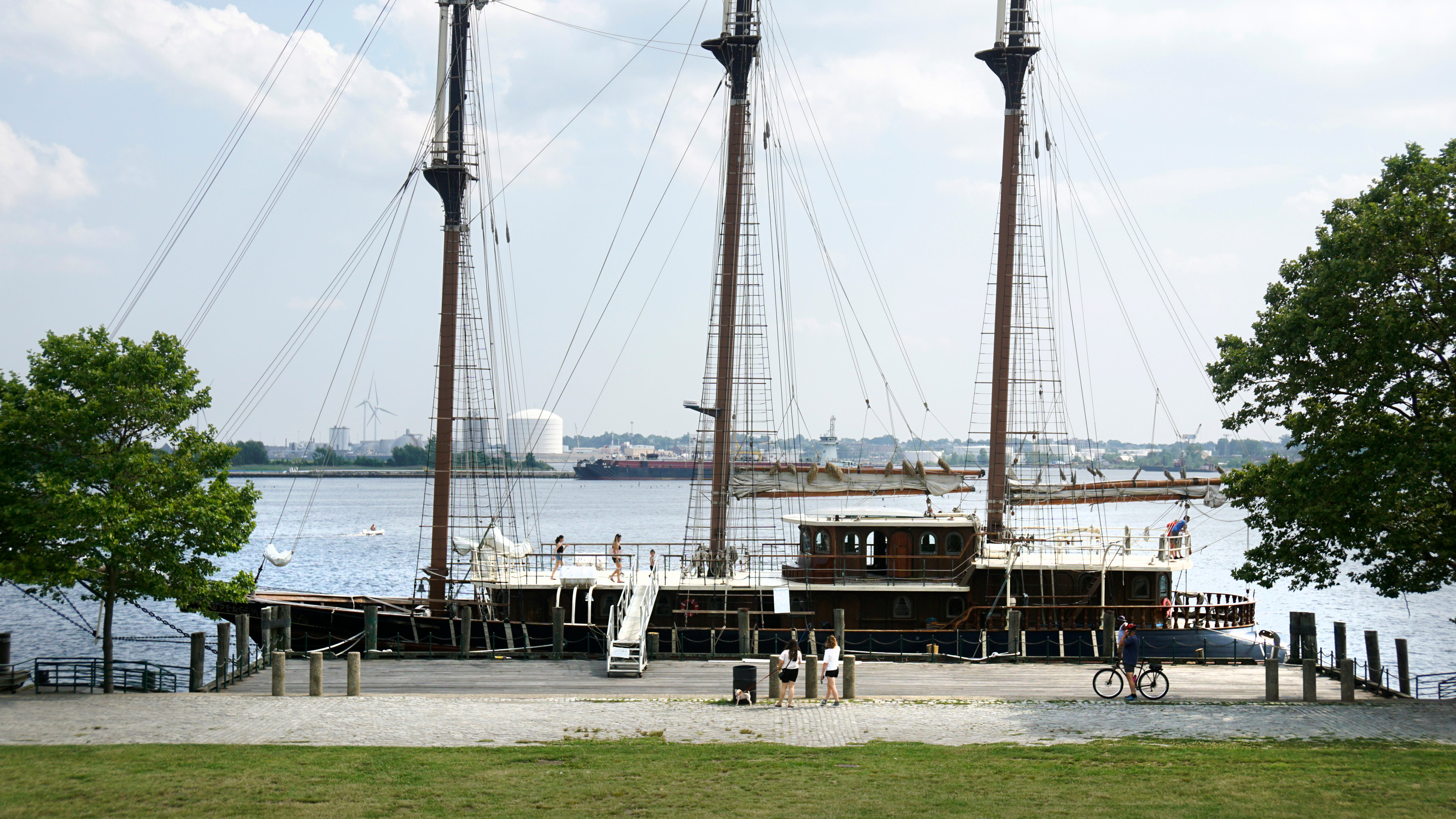 A tall ship docked in Rhode Island is home to the controversial Twelve Tribes religious  cult