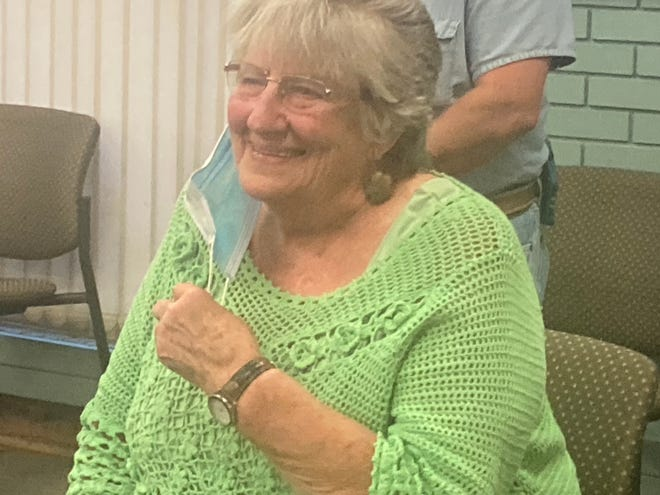 Pat Sawyer of Springfield was presented with the Shining Star award at the School District 186 board of education meeting Tuesday. Next school year will be Sawyer's 60th in the classroom. Sawyer taught full time from 1961 to 2001, including 34 years with the district.