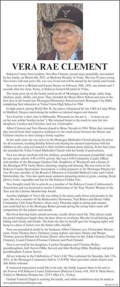 Obituaries in Yreka, CA | Siskiyou Daily News