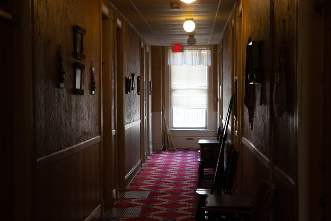 Rooms on the second floor of the Hotel Josephine in Holton are thought to be haunted.