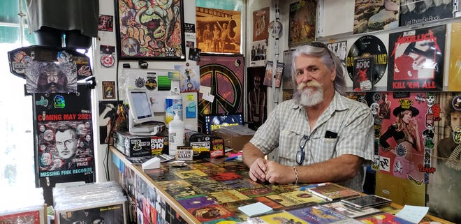 """Mark Dodd, who works at Back-A-Round Records in downtown Fayetteville, used to head up security at The Rock Shop. The building for the former music venue, which closed in 2017, has been chosen by the city for a day center and shelter for homeless people. Dodd likes the idea: """"The people need some place they can count on."""""""