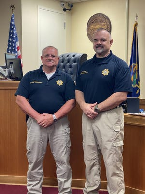 Undersheriff Mike Westmoreland (right) standing with Sheriff Darren Chambers (left)