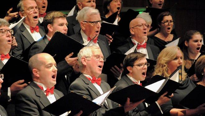 Pilgrim Festival Chorus members perform in concert in 2017.