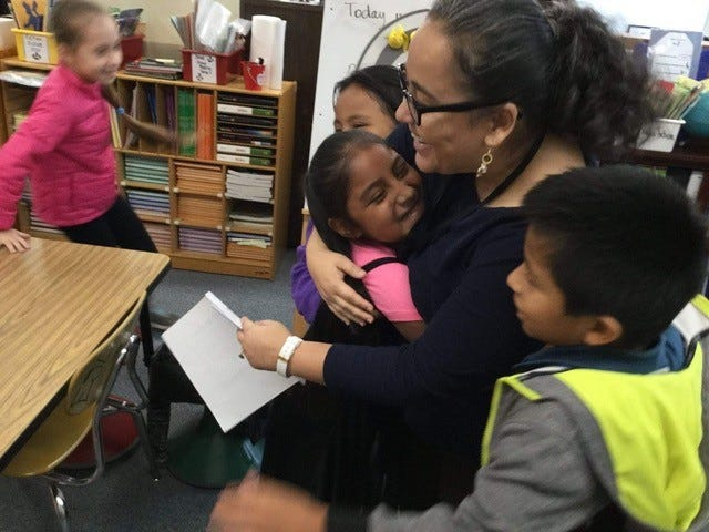 Gabriela Dominguez Aragonez has taught English as a Second Language in Buncombe County Schools for five years.