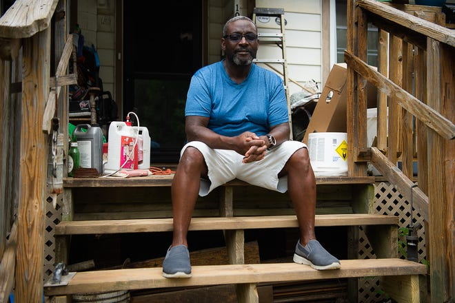 Raymond Harrell owns a home in the traditionally Black Asheville neighborhood of Shiloh where his government assigned property value went up 44%, also raising his tax bill.