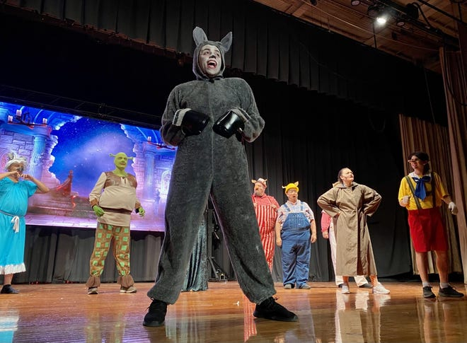 """Jaxon Newsome stars as Donkey in the Chillicothe Civic Theatre's production of """"Shrek: The Musical"""" which will take place from July 8 to 11 at the Chillicothe High School."""
