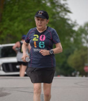 Area runners will be able to see how far they can run in 100 minutes, like this runner in 2019 at the annual Gauntlet Run in Gibsonburg July 24 at Williams Park. The run raises money for Brandan's Brigade, which helps fund quality running shoes for middle and high school athletes.