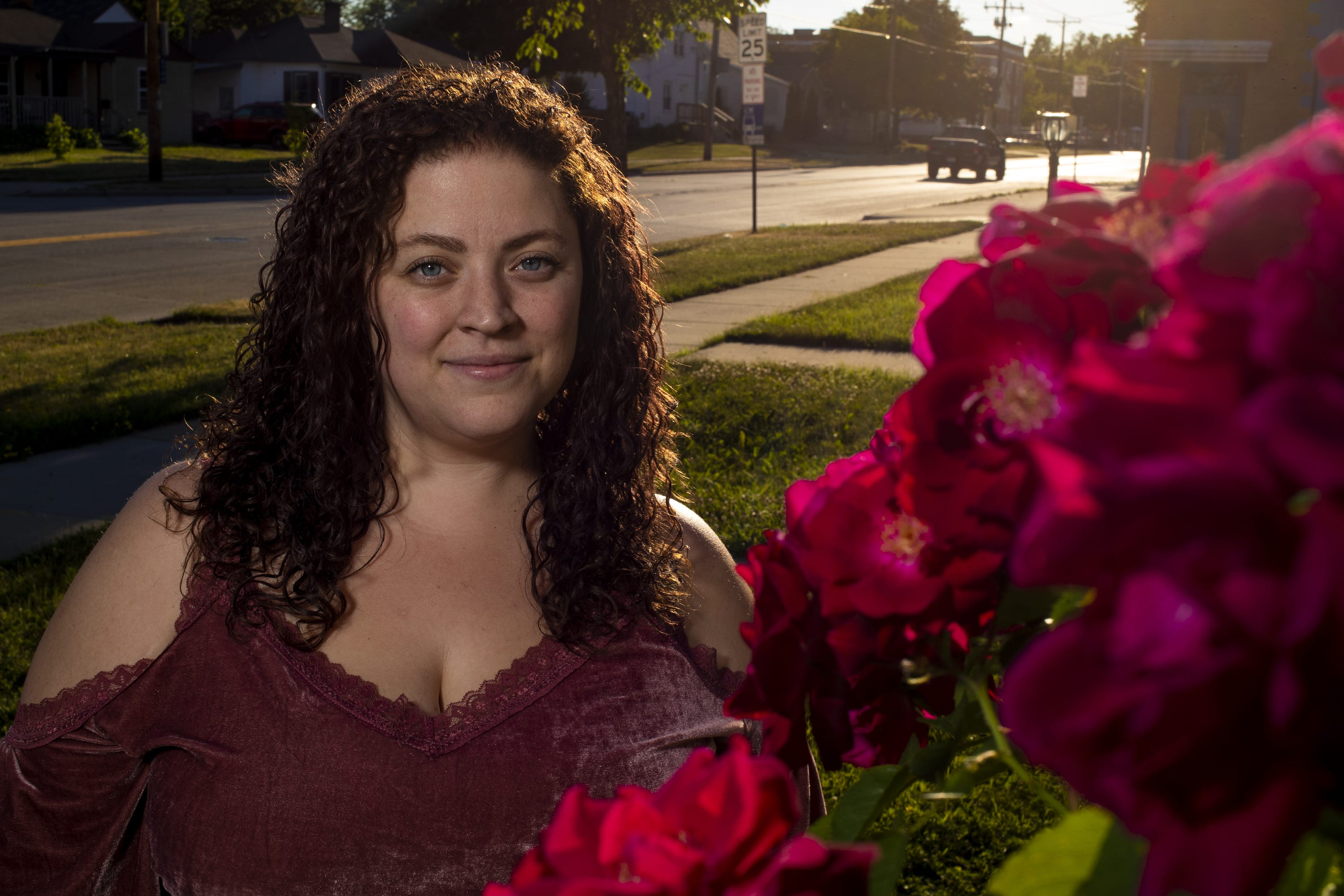 Jaleesa Gray, 28, poses for a portrait outside her home June 15, 2021, Green Bay, Wis.