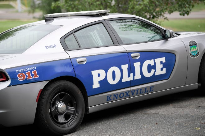 Stock image of KPD Knoxville Police Squad Car Cruiser Dodge Charger