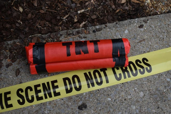 A fake explosive used by a local church prompted a bomb scare in Franklin last week.