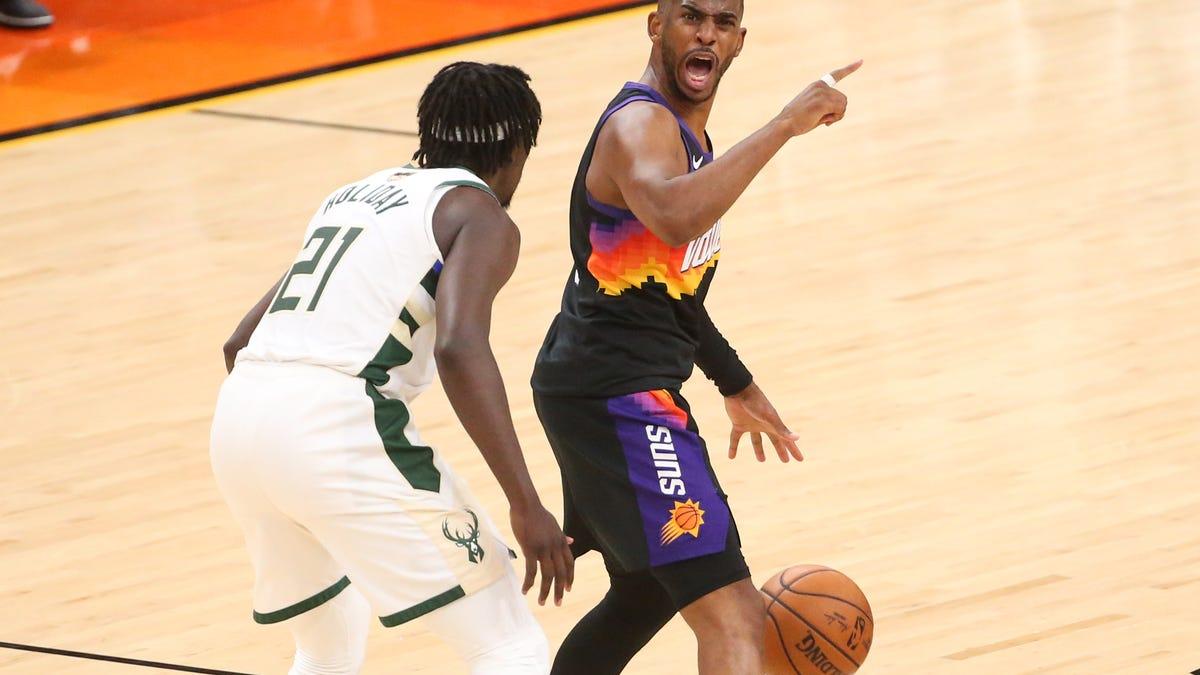 Phoenix Suns beat Milwaukee Bucks in Game 1 of NBA Finals ...