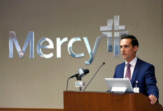Mercy Springfield President Brent Hubbard announces at a press conference on Wednesday, July 7, 2021, that its entire workforce will be required to vaccinate against COVID-19 by Sept. 30.