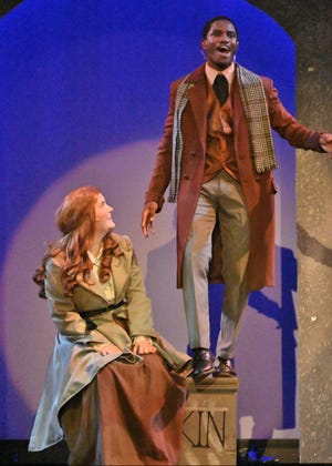 """Lily Zuehlke as Anya with Sam Scriven as Demetri in Leon Summer Show, """"Anastasia,"""" running July 9-18, 2021"""