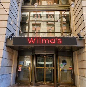 An artistic rendering previews the entrance of Wilma's, a new duckpin bowling alley set to open this fall in downtown Wilmington.