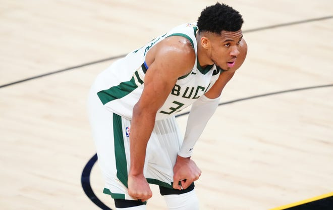 Giannis Antetokounmpo had 20 points and 17 rebounds in Game 1 after being cleared to play in the hours ahead of tip-off.