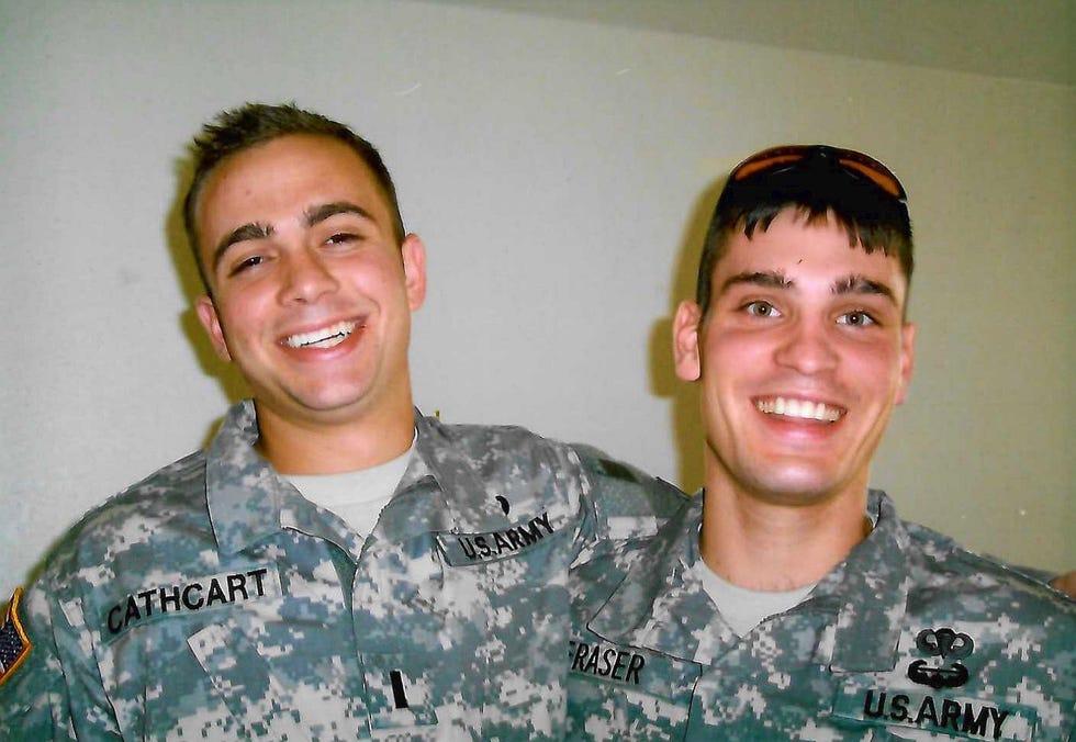Garrett Cathcart and Dave Fraser in Killeen, Texas, in December 2005.