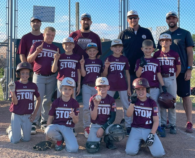 The Stow Bulldogs won the American League 9U division title in the Start Summit Baseball League. Team members include, front row, from left, Jacob Hamilton, Hayden Guidone, Joe Misitigh and Landen Dujanovic. Second row, from left, are Max Kaludy, Brayden Greenleaf, Hunter Wuhr, Ty Martini, Grayson Wuhr and Luke Schelien. Back row, from left, are coaches John Guidone, Jason Hamilton, Dan Misitigh and Mike Martini.
