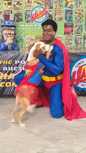 Michael Wilson will appear as Superman at this weekend's event at Angels for Animals.