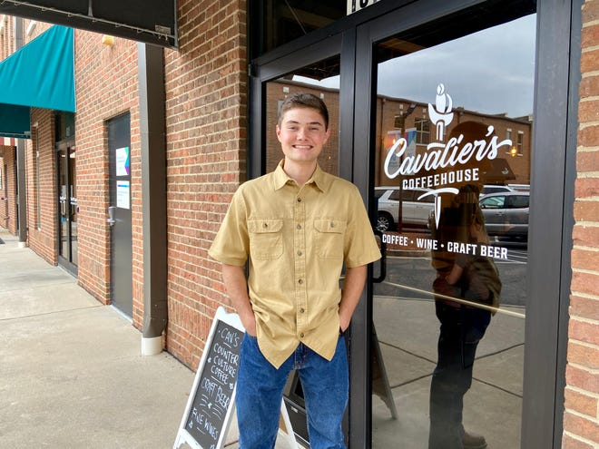 David Brannon stands in front of his new business, Cavalier's Coffeehouse, in downtown North Augusta. The coffeehouse serves coffee, pastries, wine and craft beer.