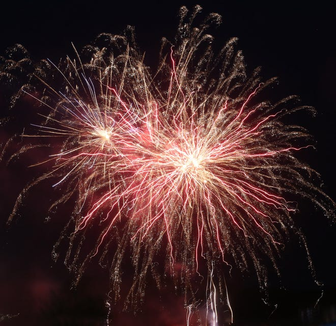 As people packed into the Cooper County Fairgrounds Sunday for the Boonville Chamber of Commerce Fireworks display, they were treated to an array of bursts and different colors. This is the second year in a row that the Boonville Chamber Fireworks display has been held at the fairgrounds.