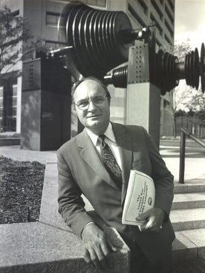 """Willis S. """"Pete"""" White Jr., shown here in a 1984 photo, was chairman and CEO of AEP from 1976 to 1991."""