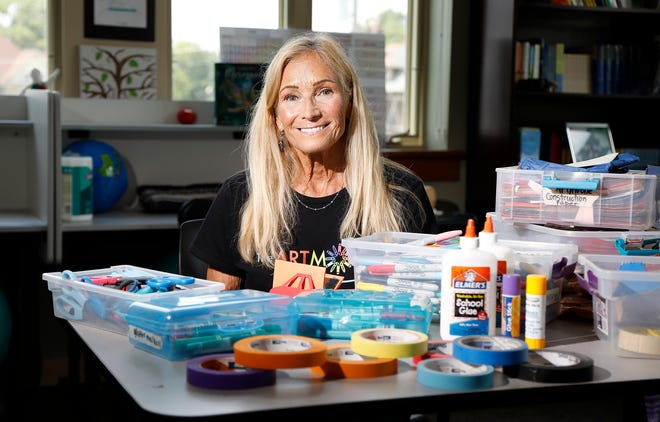 Tobi Furman brings arts education to children across Columbus with the Artmobile. Tobi Furman started the Artmobile to deliver arts education to children who may not have other access to it. Tobi poses for a photo on July 7, 2021.