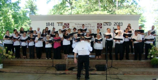 The Salt Fork Festival Chorus will perform at the Arts and Crafts Festival, scheduled for Aug. 13-15, in the Cambridge City Park.
