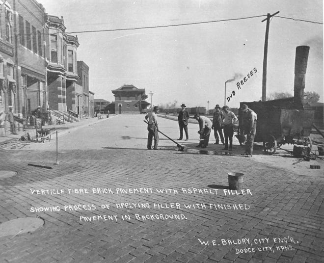 Dodge City's miles of brick streets were constructed between 1912 and 1925