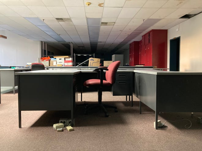 Inside the front offices of The Daily Herald building located at 1115 South Main Street in Columbia, Tenn., in June 2021.