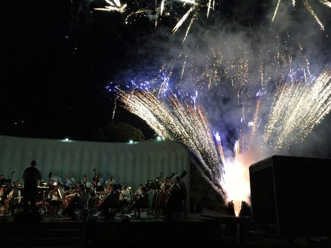 Symphonic Blast concerts return to Crapo Park on Saturday, complete with a fireworks show.