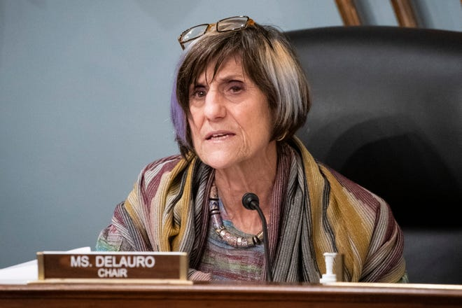 In this Jan. 4, 2020, file photo Rep. Rosa DeLauro, D-Conn., speaks during a hearing on Capitol Hill in Washington. A bipartisan proposal in the U.S. House would ban the farming of mink fur in the United States in an effort to stem possible mutations of the coronavirus, something researchers have said can be accelerated when the virus spreads among animals.
