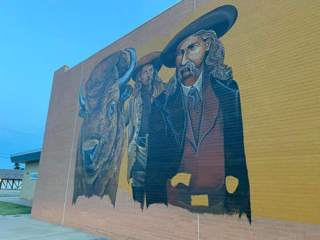 The first artwork from the 'Brush the Bricks' movement is being developed by Hays artist Dennis Schiel on the side of the S&W Supply building at 300 E. 8th.