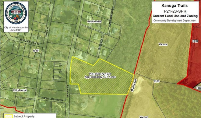 The Hendersonville Planning Board at its meeting on July 12 will review a plan to build nine condominiums on Kanuga Road.
