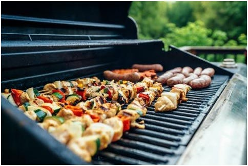 Gas grills have a higher fire risk than charcoal because of leaks or breaks in pieces. Leaks can be caused by improperly sealed connections, cracked or split hoses, or damage from wildlife.