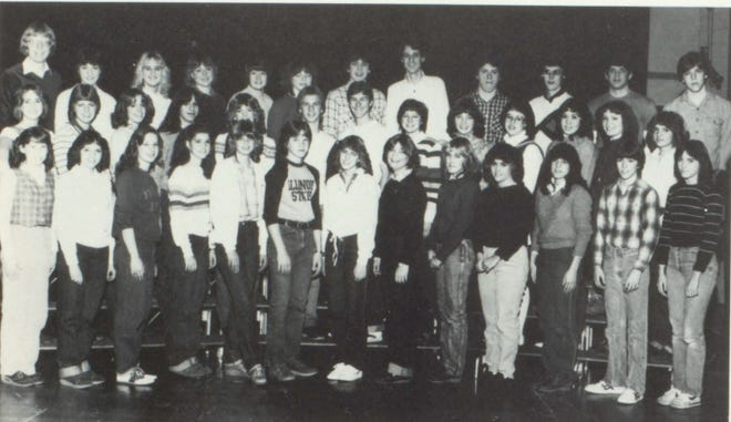 Pictures of the Past is from the 1982 Lincoln Community High School yearbook. It shows members of the Student Council. In front from left are: K. Harp, D. Kline, D. Atteberry, K. Schroyer, C. Donley, C. Klockenga, A. Klockenga, J. Cicci, R. Ross, S. Mason, A. Sparks, E. Gober and A. Prowel. Second row: L. Brooks, J. Crain, A. LaMothe, B. Ulrich, T. McCue, M. Copeland, A. Rock, J. Prisk, A. Peters, D. Werth, D. Robinson, vice president, Gail Peters, secretary and T. Johnson. Third row: Mr. Stephen Sauer, J. Austin, L. Beck, J. Hilpert, L. Mollette, J. Raycraft, C. Miller, G. Sheley, B. Brackney, T. Gehlbach, president, V. Rainforth and R. Shields.