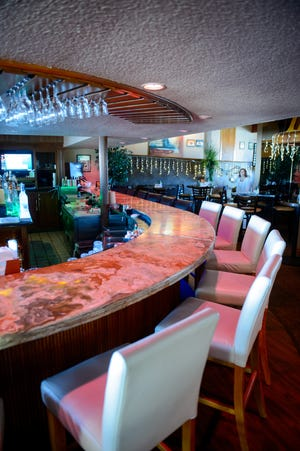 The main bar at JB Hook's restaurant.