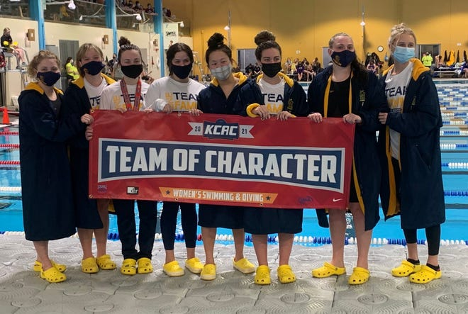 Shown is the University of Saint Mary women's swimming team.