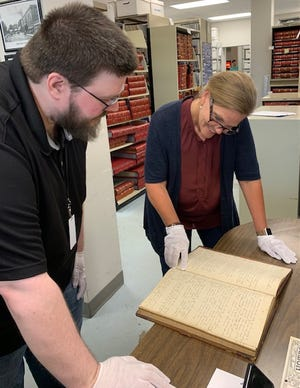 'We are so thankful for Mr. Wiest's contribution of this historical gem to the Archives, and are very excited to put the book on display during the Fair,' Anderson County Mayor Terry Frank, pictured at right said.